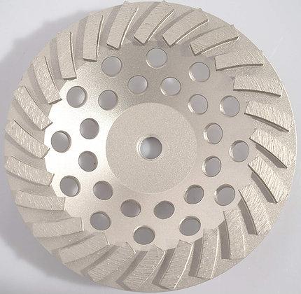 "7"" Pro Turbo 24 Segment Diamond Cup Grinding Wheel Grind Concrete Thinset"