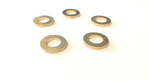 """5 Pack of Adapter Bushings Converts 7/8"""" Down to 1/2"""" Thick Style for Saw Blades"""