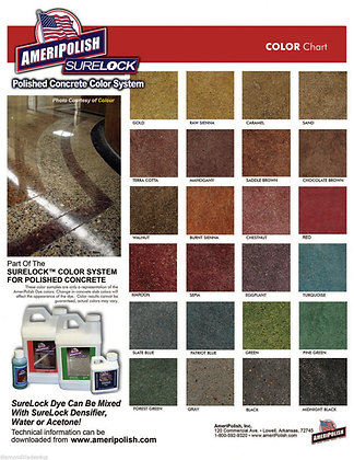 Ameripolish Surelock Concrete Color Dye 1 Gallon