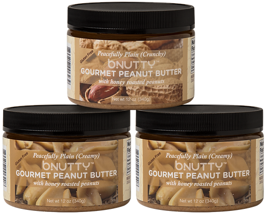 Peacefully Plain Crunchy and Creamy 3 Pack
