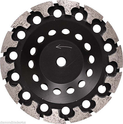 T-Seg Style Diamond Cup Grinding Wheel for removing mastics, concrete, coatings