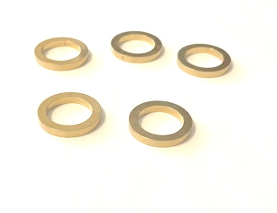 """5 Pack 7/8"""" to 5/8"""" Brass Adapter Bushing Thick Style for diamond saw blades"""