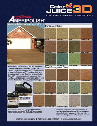 Ameripolish Exterior Concrete Color Dye System 1 Gallon