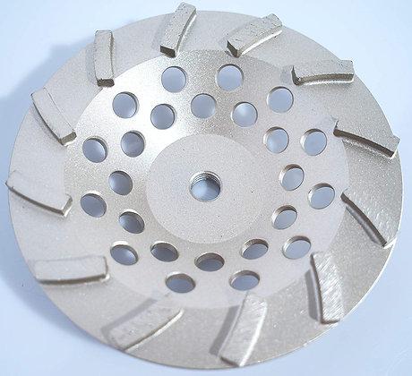 "7"" Turbo 12 Segment Premium Grade Diamond Cup Grinding Wheel"
