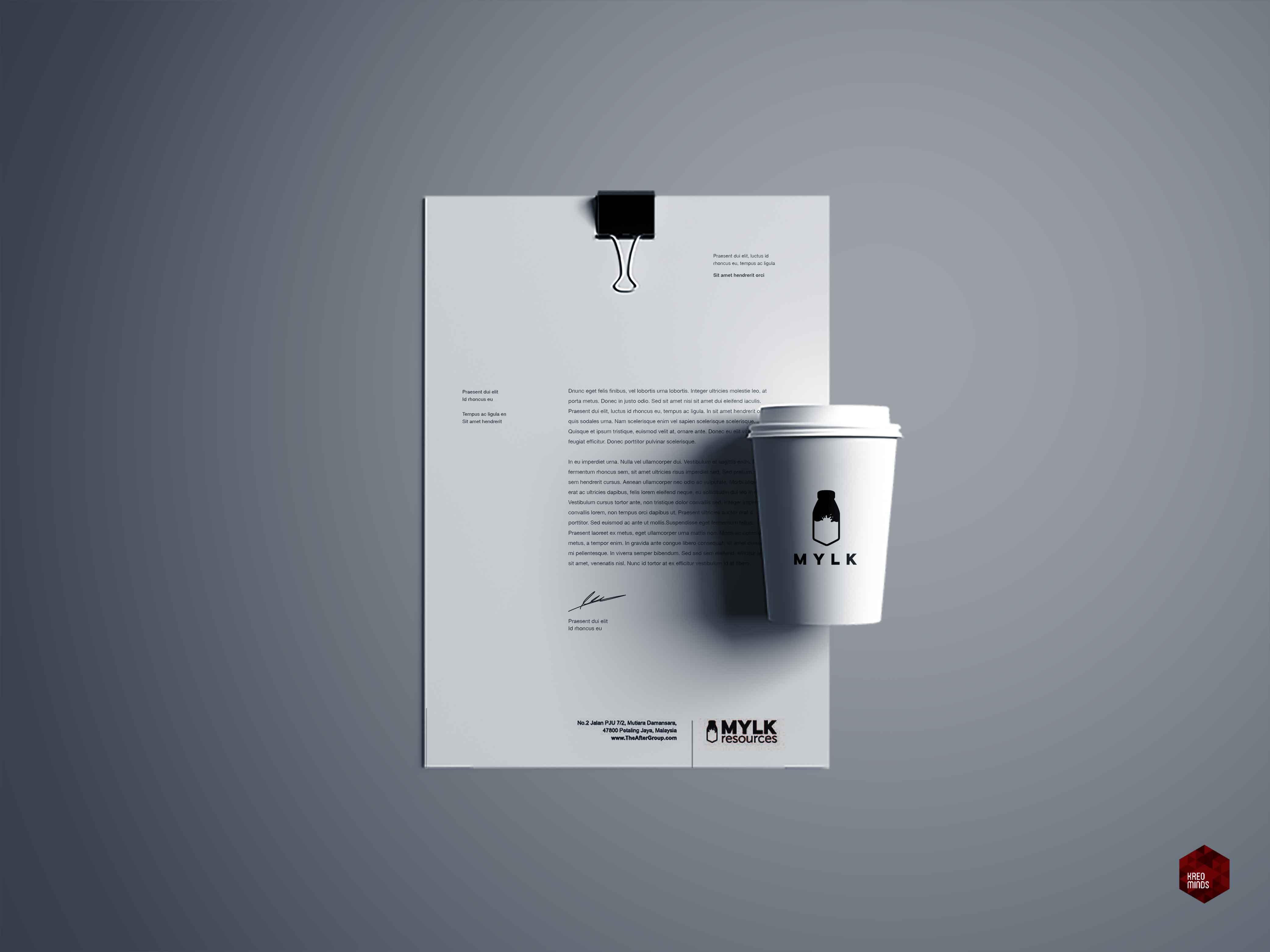 Letterhead. Papercup Design.