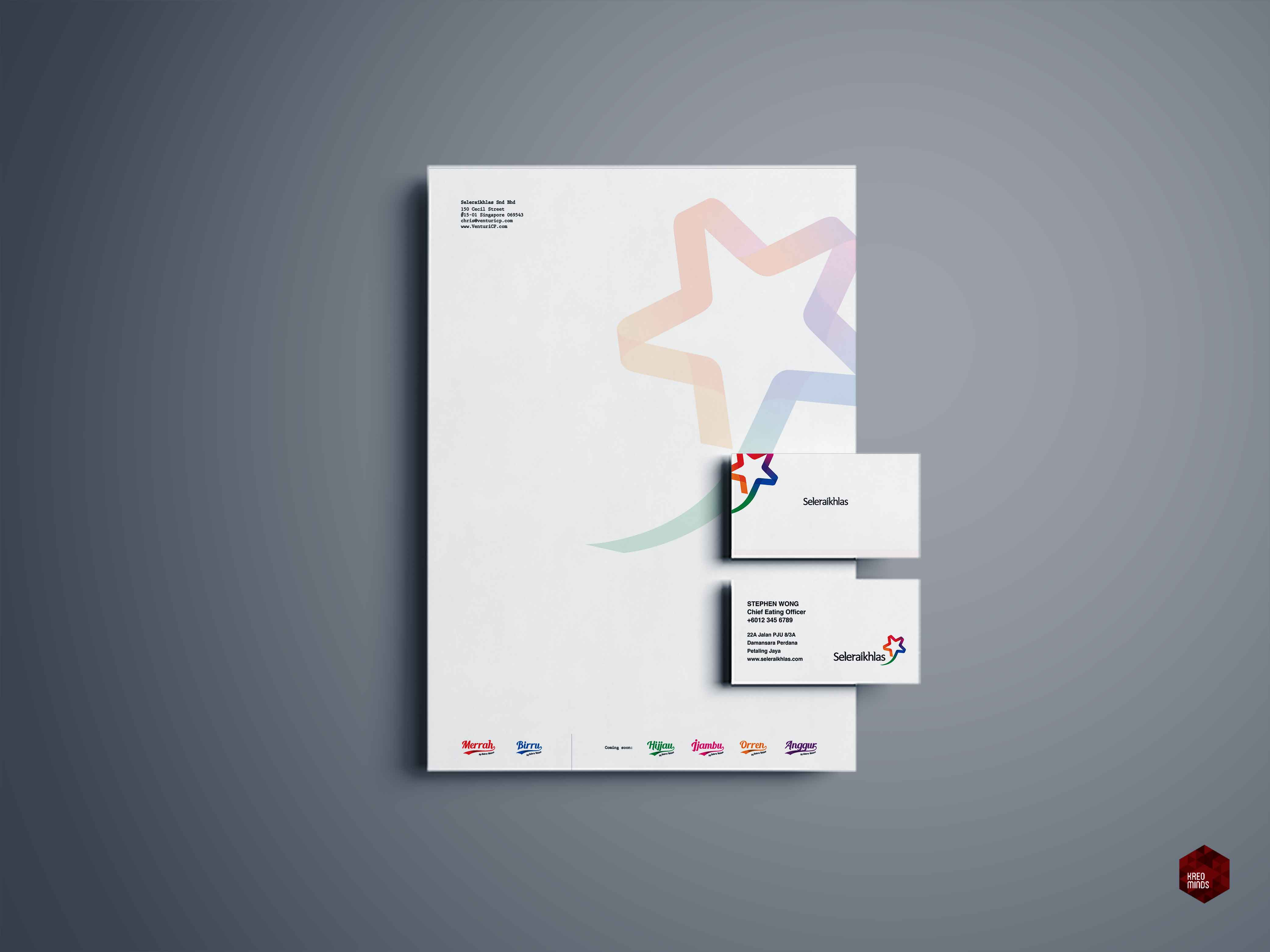 Letterhead. Business Cards.