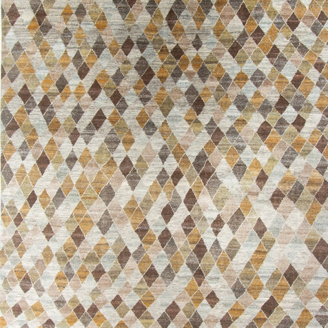 Gold, Olive, Brown, Ivory Rug
