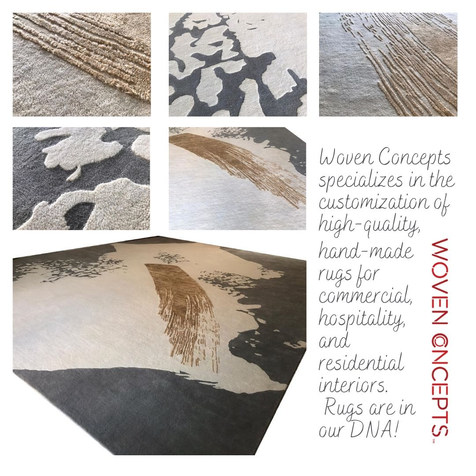 Value-engineered rug for custom interiors