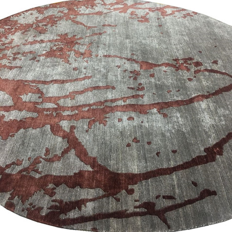 Custom Rug - Round Rug - EngineereCustom Rug - Color Block - Bespoke