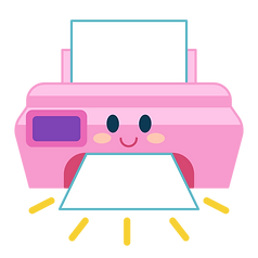 Printer Icon for Moon Paper Toys Club: DIY subscription for kids