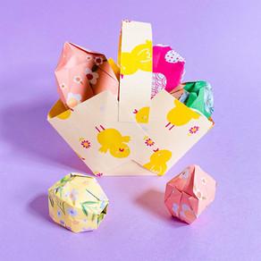 A cesta de papel mais fácil para fazer com as crianças neste fim de semana!