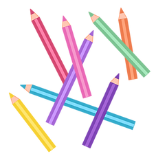 Coloring Pencils Icon for Moon Paper Toys Club: DIY subscription for kids