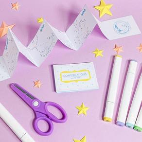 Entediados? Criem! Como montar um mini livro de constelações!