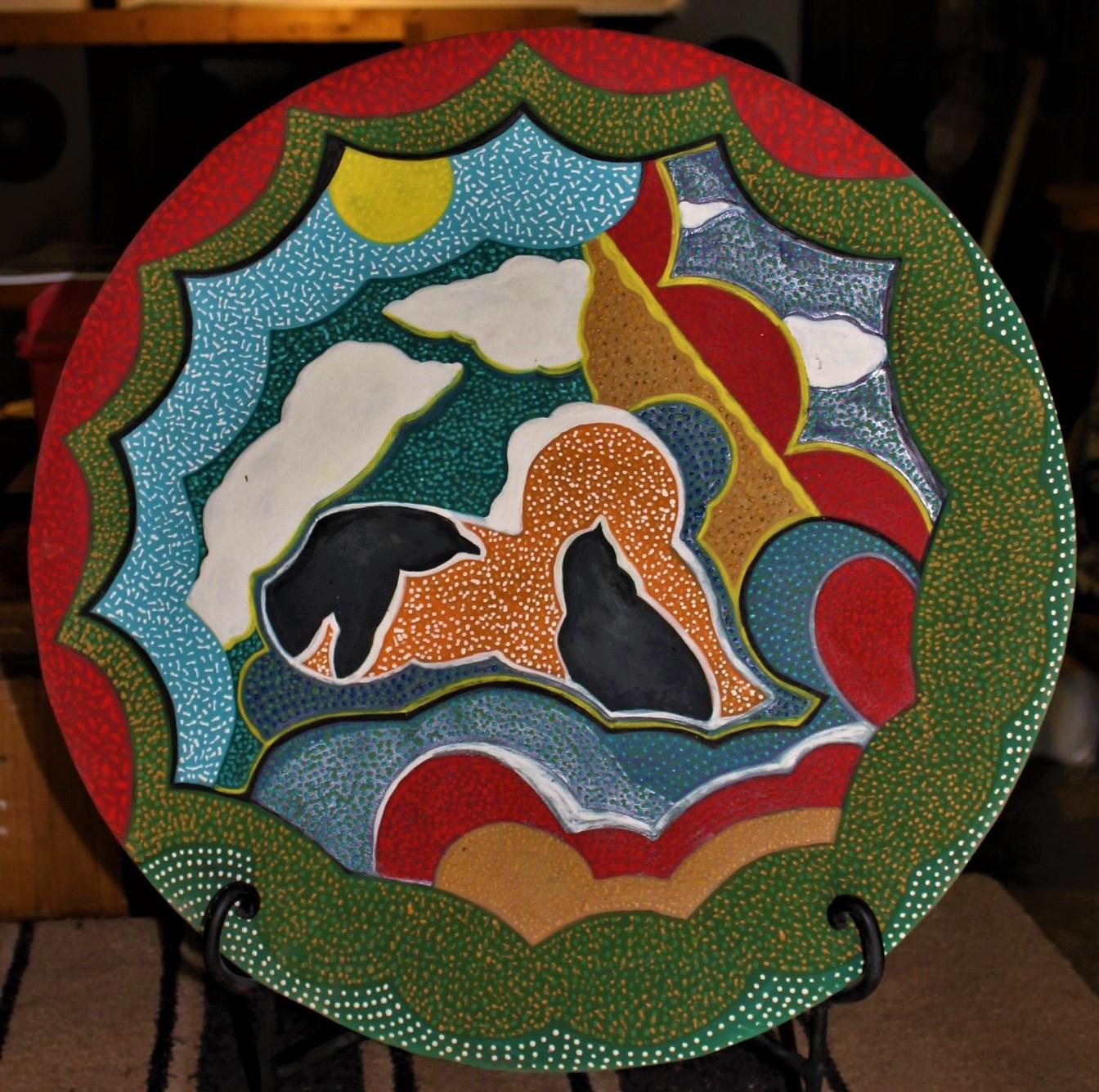 20_ Ceramic platter $100