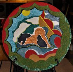 """20"""" D Ceramic platter"""