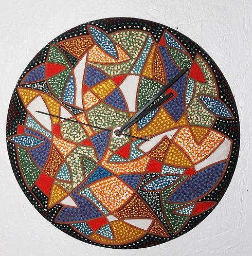 """12"""" Wall Clock Fish Pattern"""