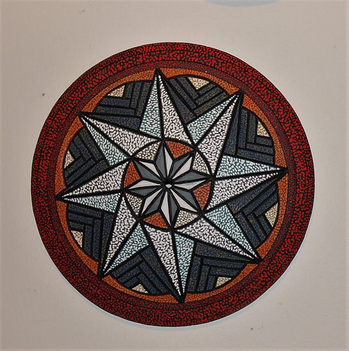 "Starlight ceramic art wall clock, 16""Diameter x 3"" Depth"