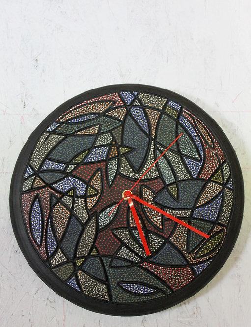 "Small Fish Ceramic Wall Clock 13"" D SOLD"