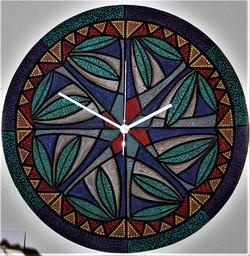"""My New Mexico"" 16"" D ceramic art wall clock$100"