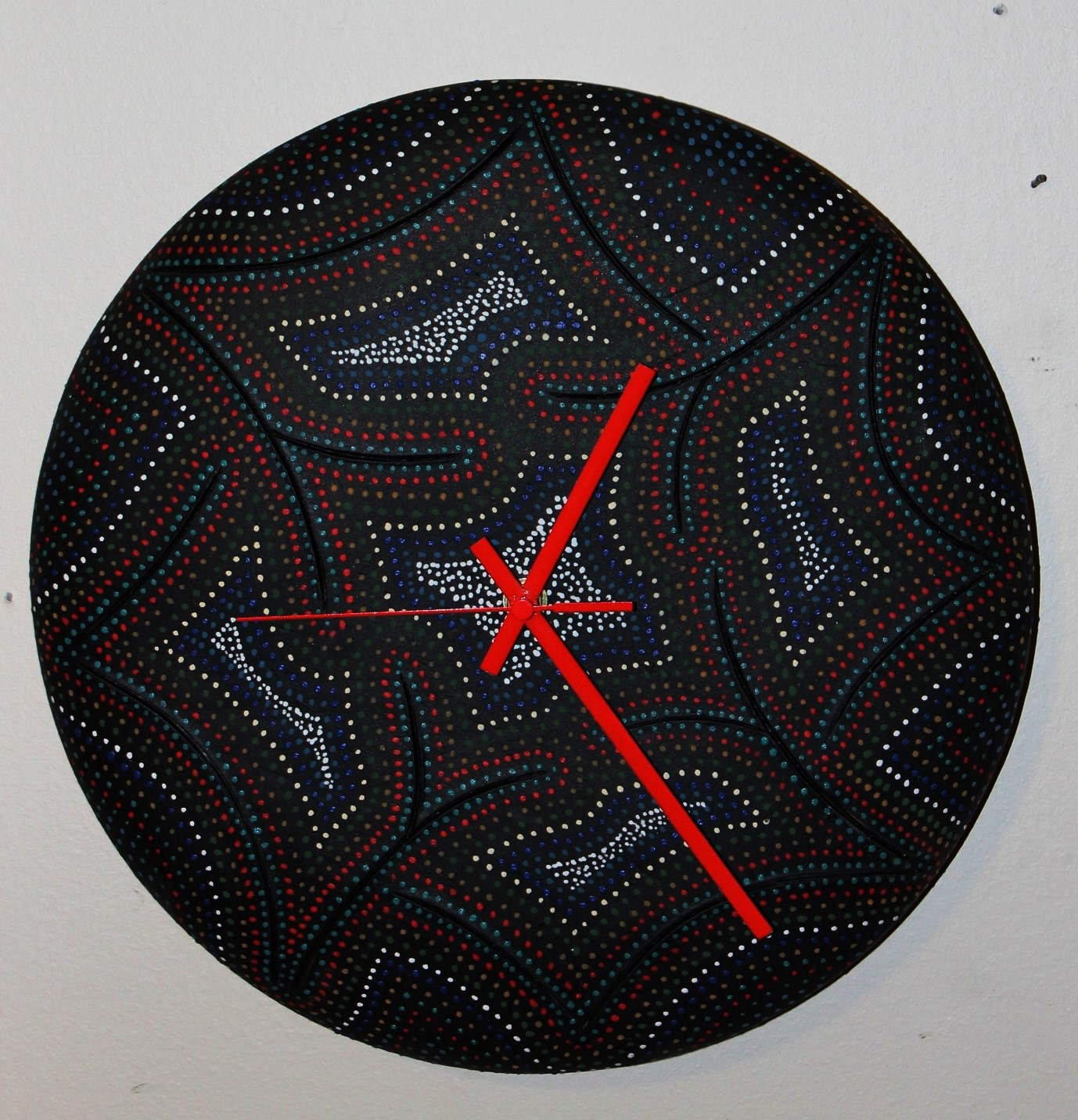 "$65.00 13"" Wall Clock-Sold"