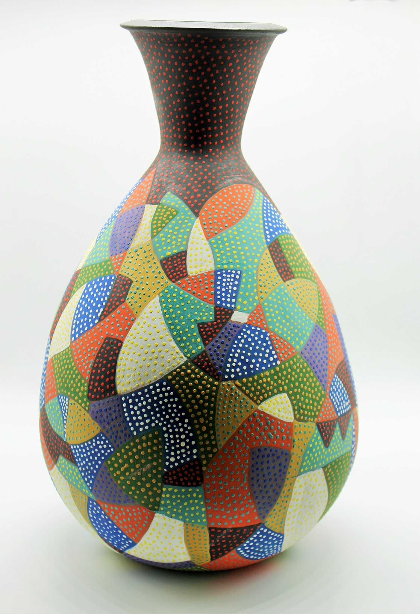 Large Bottle with Pattern Sold