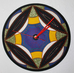 """12"""" D Wall Clock $90.00 plus tax and shippingavailable. This pic shows clock top leaning to the left"""