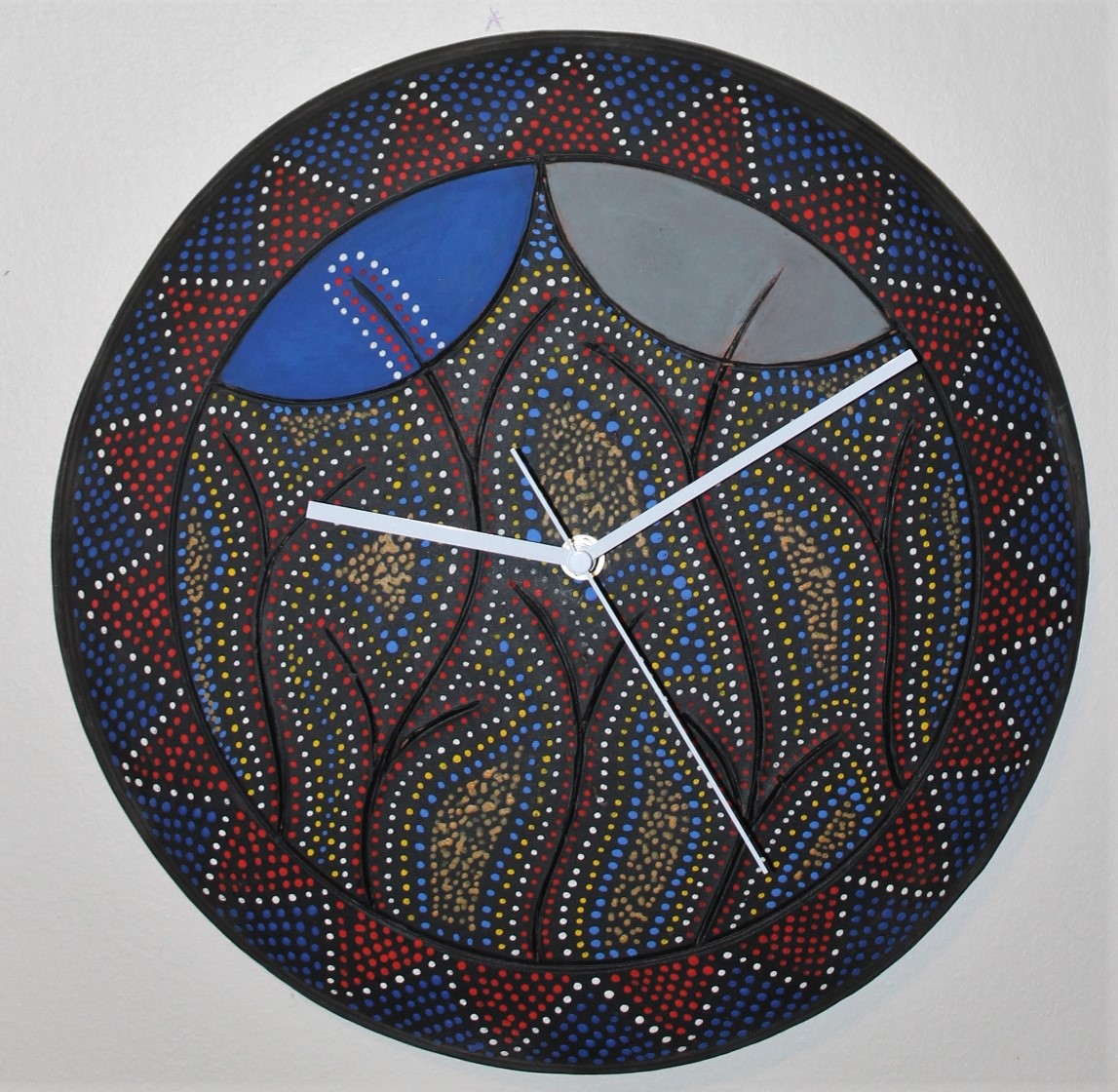 a blue moon wall clock