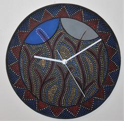 a blue moon wall clock