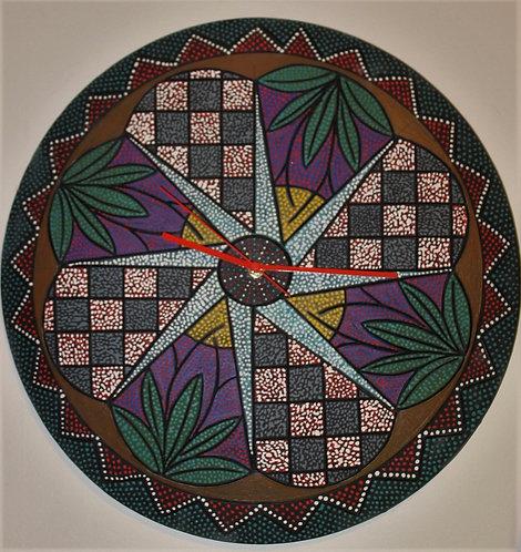 "8 stars over kansas ceramic art wall clock 17"" Diameter"