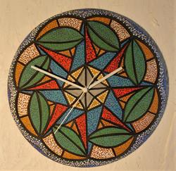 """Green Pods"" Ceramic Art wall clock"