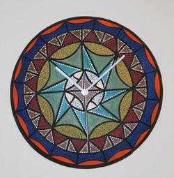 """""""Water Web"""" Ceramic Wall Clock"""
