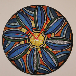 "14"" D wall clock, ""Belize"""