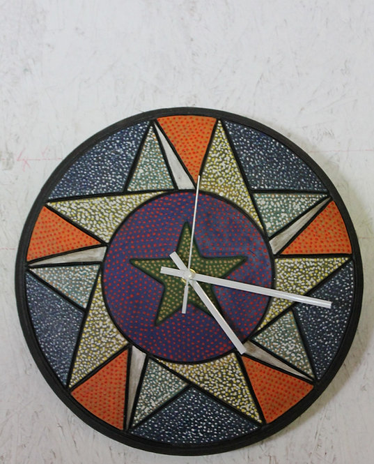 "13"" Texas Wall Clock Ceramic SOLD"