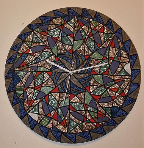 """18"""" Diameter """"Sea Life"""" Ceramic Wall Clock"""