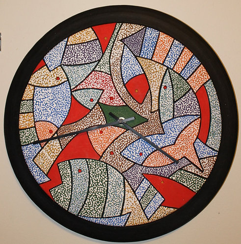 """Redfish 17"""" D wall clock"""