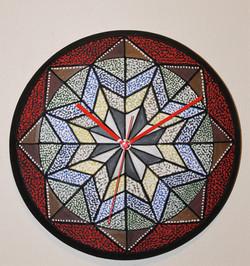 """Nova"" 12"" D Wall Clock ceramic handmade"