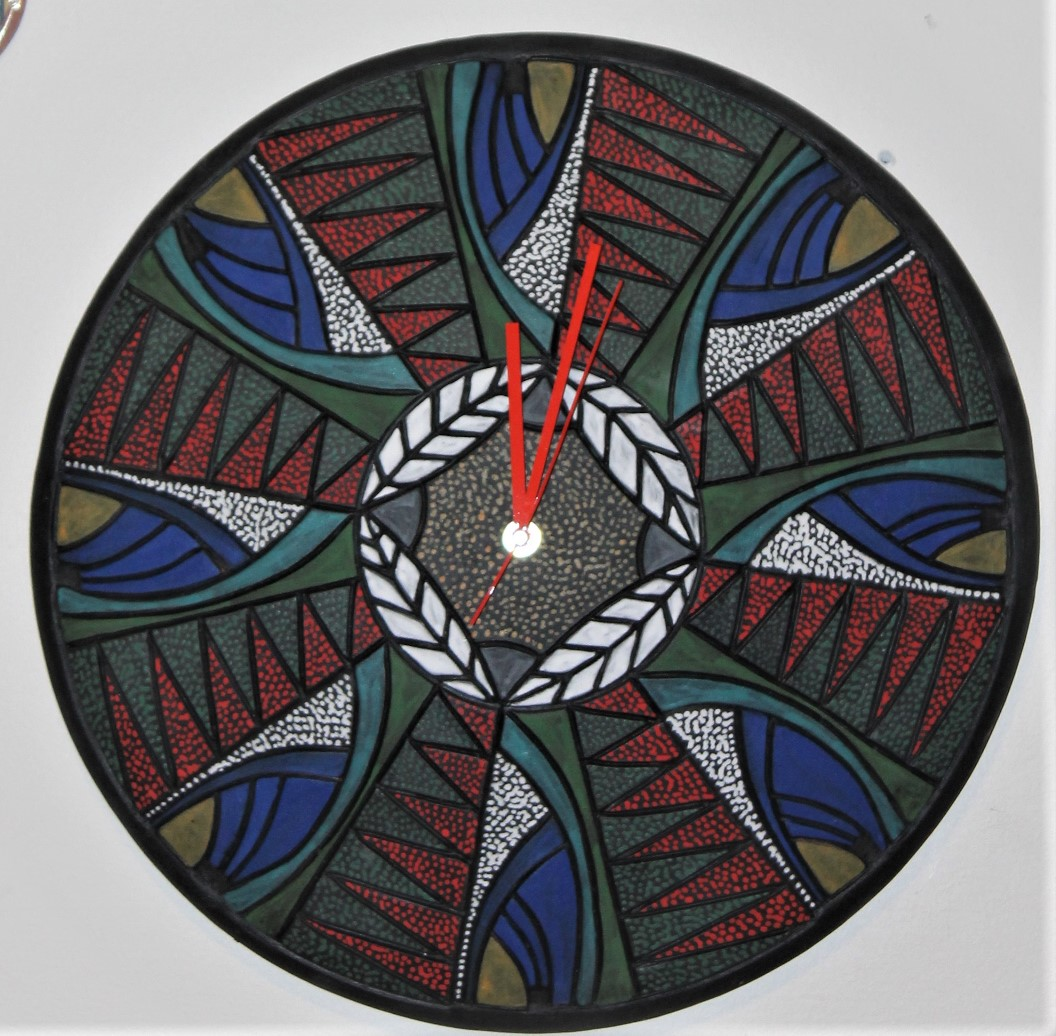 "18"" Wall Art Clock $225"