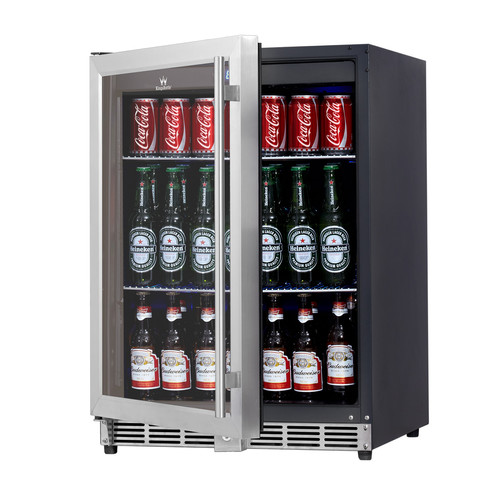 Beverage Cooler Glass Door With Stainless Trim 50bss