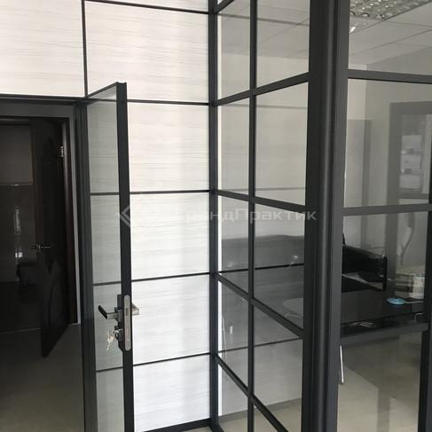 Стеклянная лофт дверь