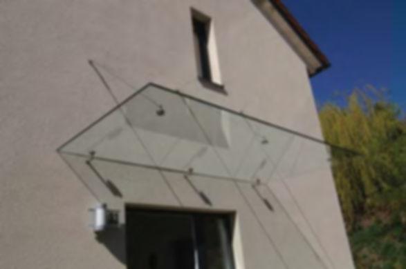 Стеклянный козырек, навесы из стекла