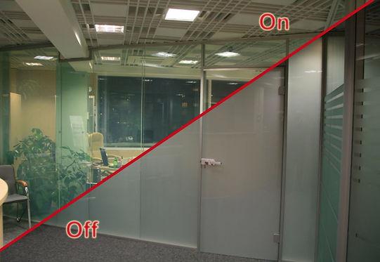Smart стекло, умное стекло, перегородка из умного стекла