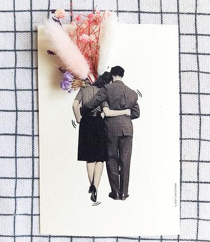Carte bouquet couple