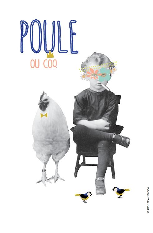 Carte Poule ou coq