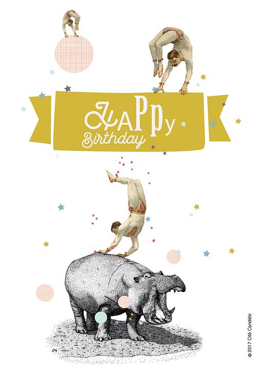 Carte Happy birthday circus