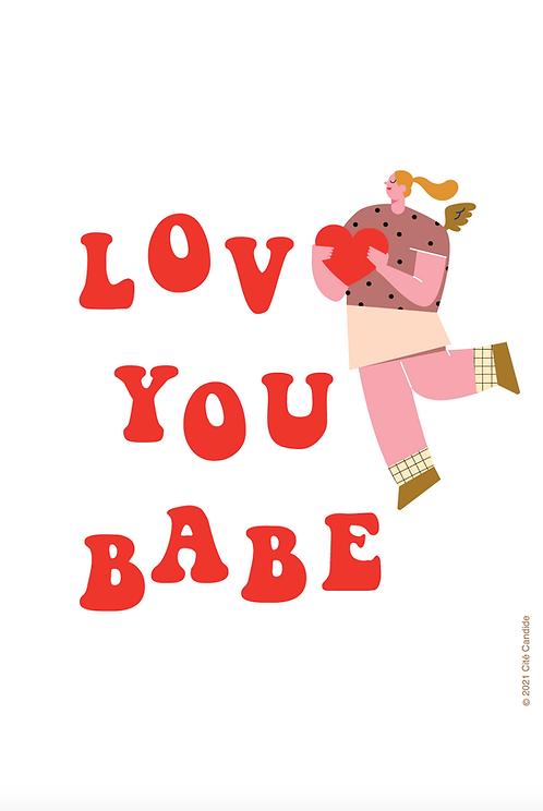 Carte Love you Babe
