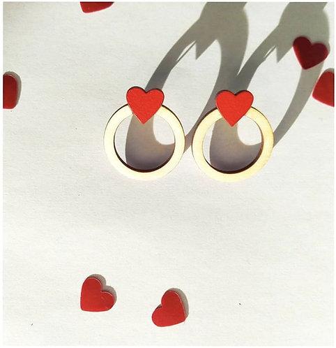 """Boucles d'oreilles """"Oh mon amour"""""""