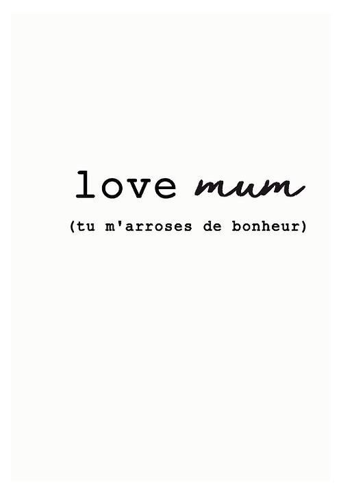 "Carte à planter ""Love mum"""