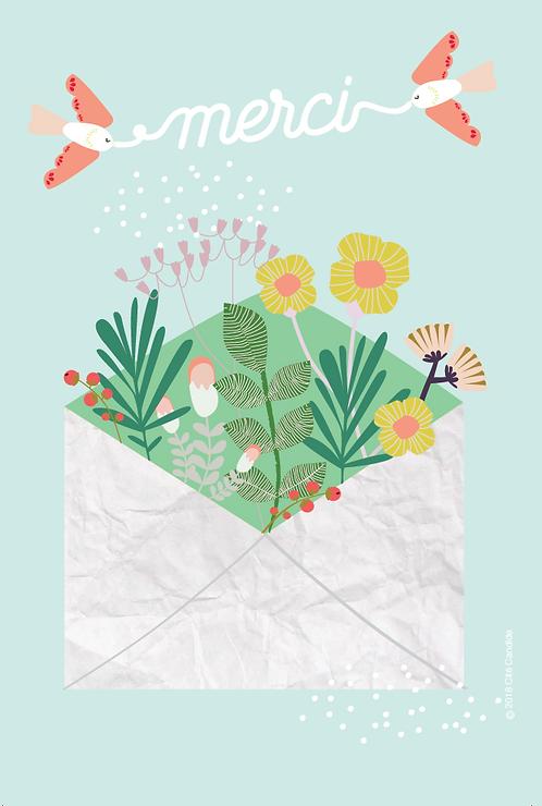 Carte Merci fleurs