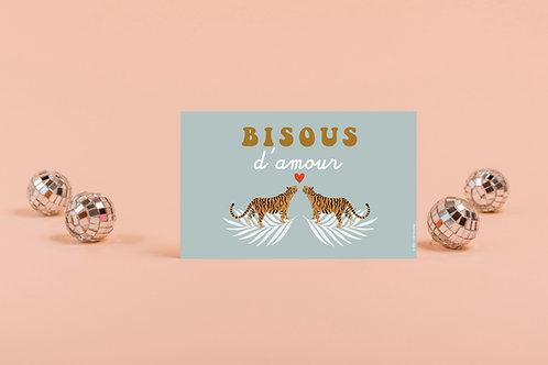 Carte Bisous Tigre