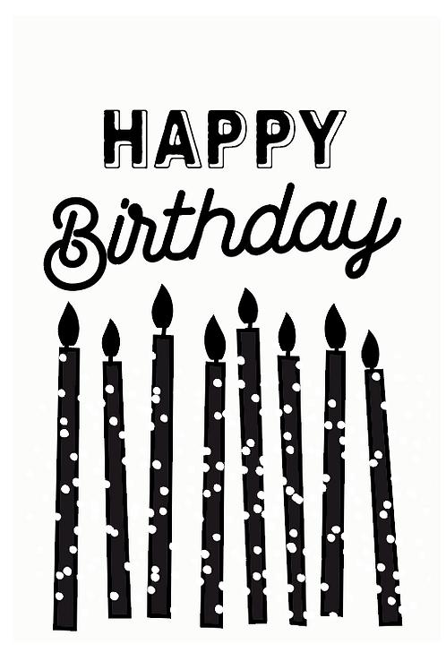 "Carte à planter ""Happy birthday"""